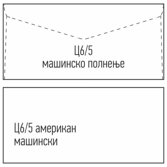 Слика на Плик машински Без прозор, Ц6/5, 114*162, Gpv, Бела