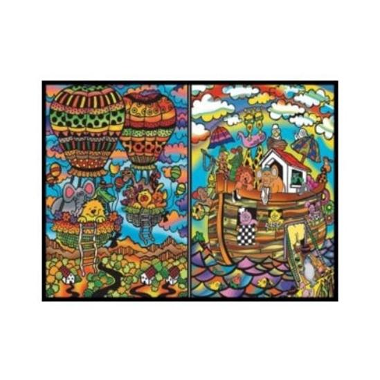 Слика на Папка за боење, Кадифена, +12 фломас., COLORVELVET, Ноева арка, CT14, 32*26*19цм