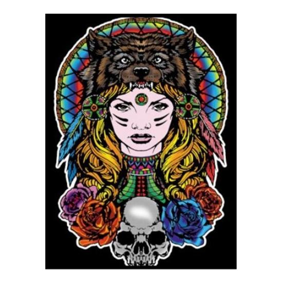 Picture of Платно за боење, +12 фломастери, COLORVELVET, Индијана девојка, L117, 35*47*0цм