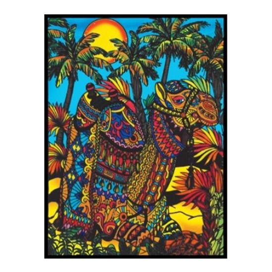Слика на Платно за боење, Кадифено, +12 фломастери, COLORVELVET, Камила, L126, 35*47*0цм