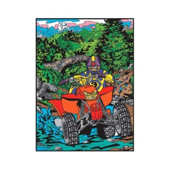 Picture of Платно за боење, Кадифено, +12 фломастери, COLORVELVET, Мотоцикл, L76, 35*47*0цм