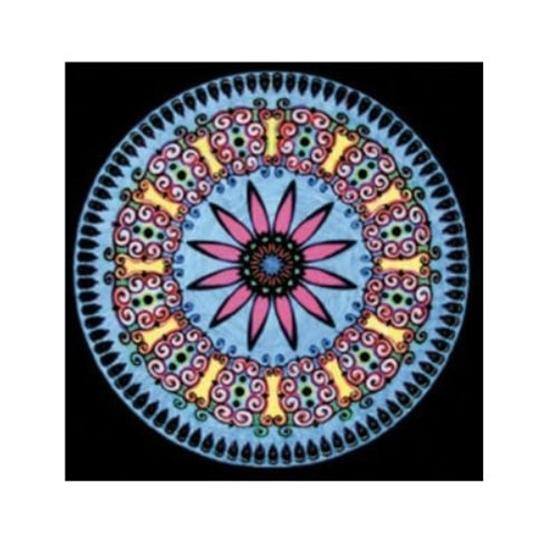 Picture of Платно за боење, Кадифено, +12 фломастери, COLORVELVET, Мандала, MA11, 32*32*0цм