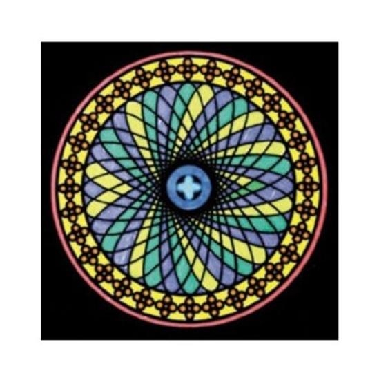 Слика на Платно за боење, Кадифено, +12 фломастери, COLORVELVET, Мандала, MA4, 32*32*0цм