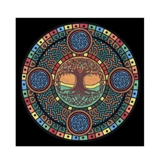 Слика на Платно за боење, +12 фломастери, COLORVELVET, Дрво на животот, MCE3, 32*32*0цм